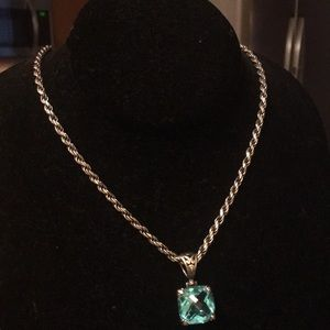 Italian Solid Sterling Silver Necklace & Pendant